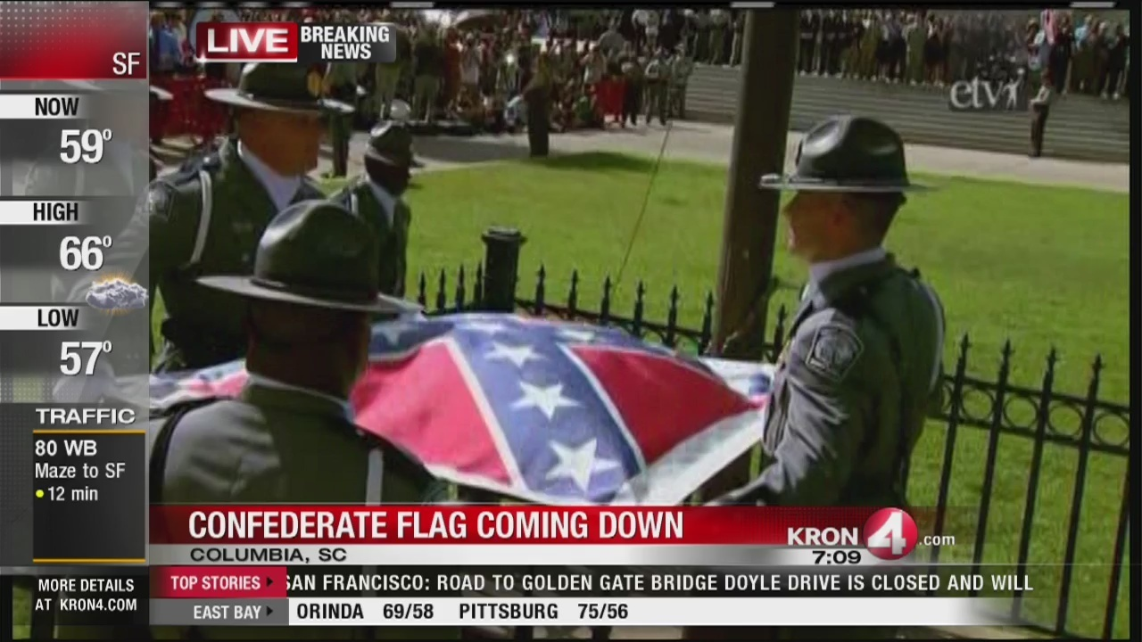Confederate flag removed from South Carolina Statehouse