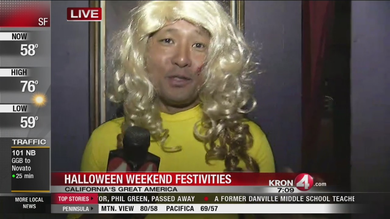 kron 4's will tran gets spooked at california's great america