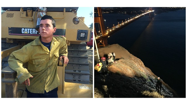 Man who fell down cliff in Marin Headlands at north end of Golden Gate Bridge rescued