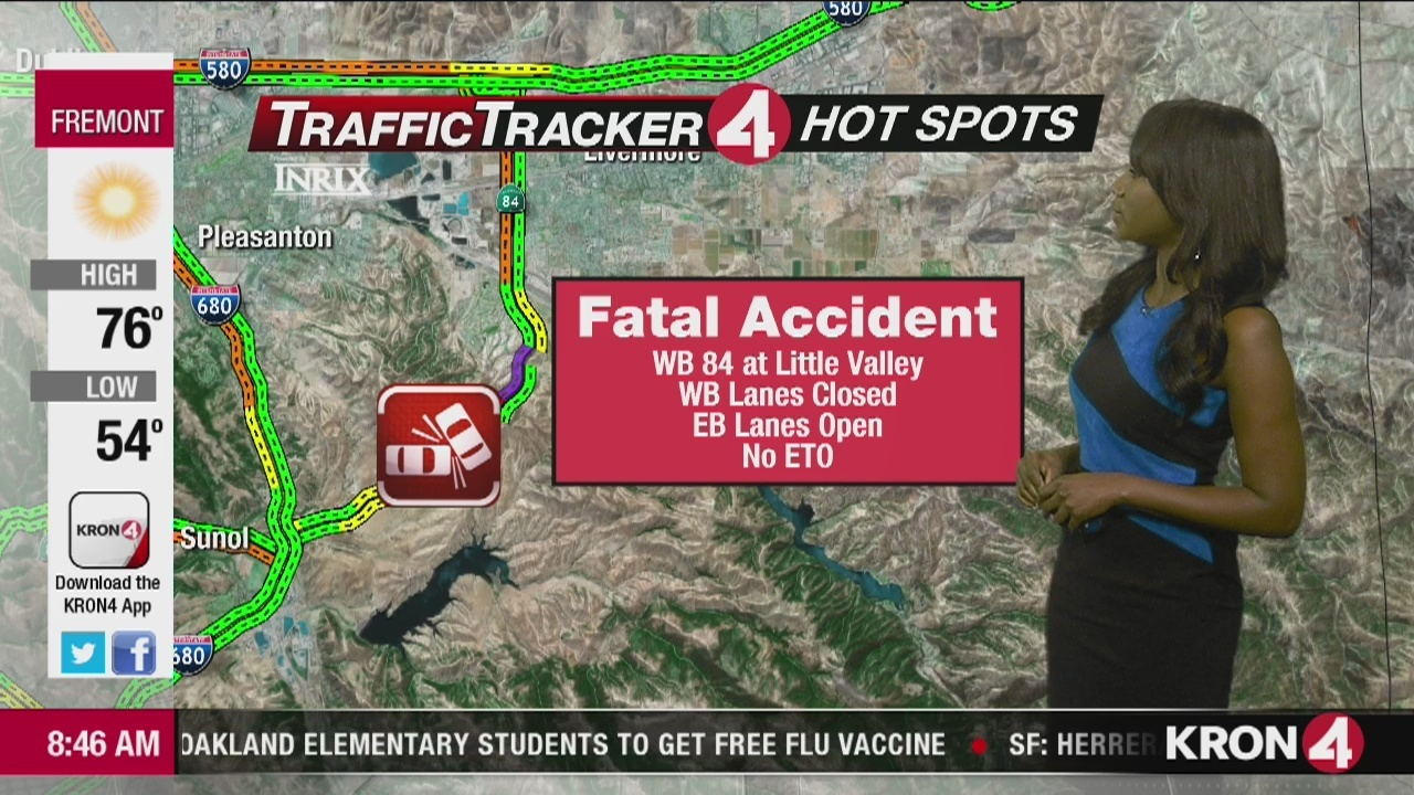 One person killed in crash on Hwy 84 in Sunol