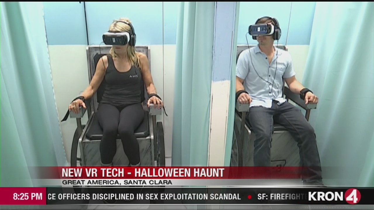 tech report: great america's halloween haunt using virtual reality