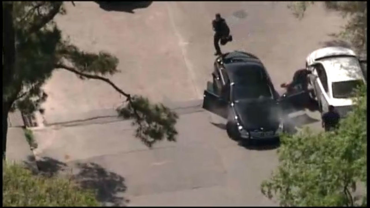Video: Two arrested after high speed car chase in Texas