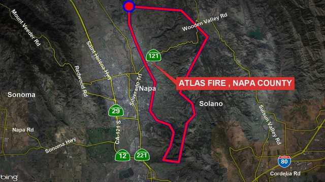 Lake Berryessa Fire Map.Maps Fires Burning In Sonoma And Napa Counties