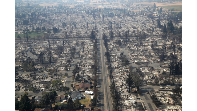 Multiple Wildfires Destroy Homes, Threaten California Wine Country_649393
