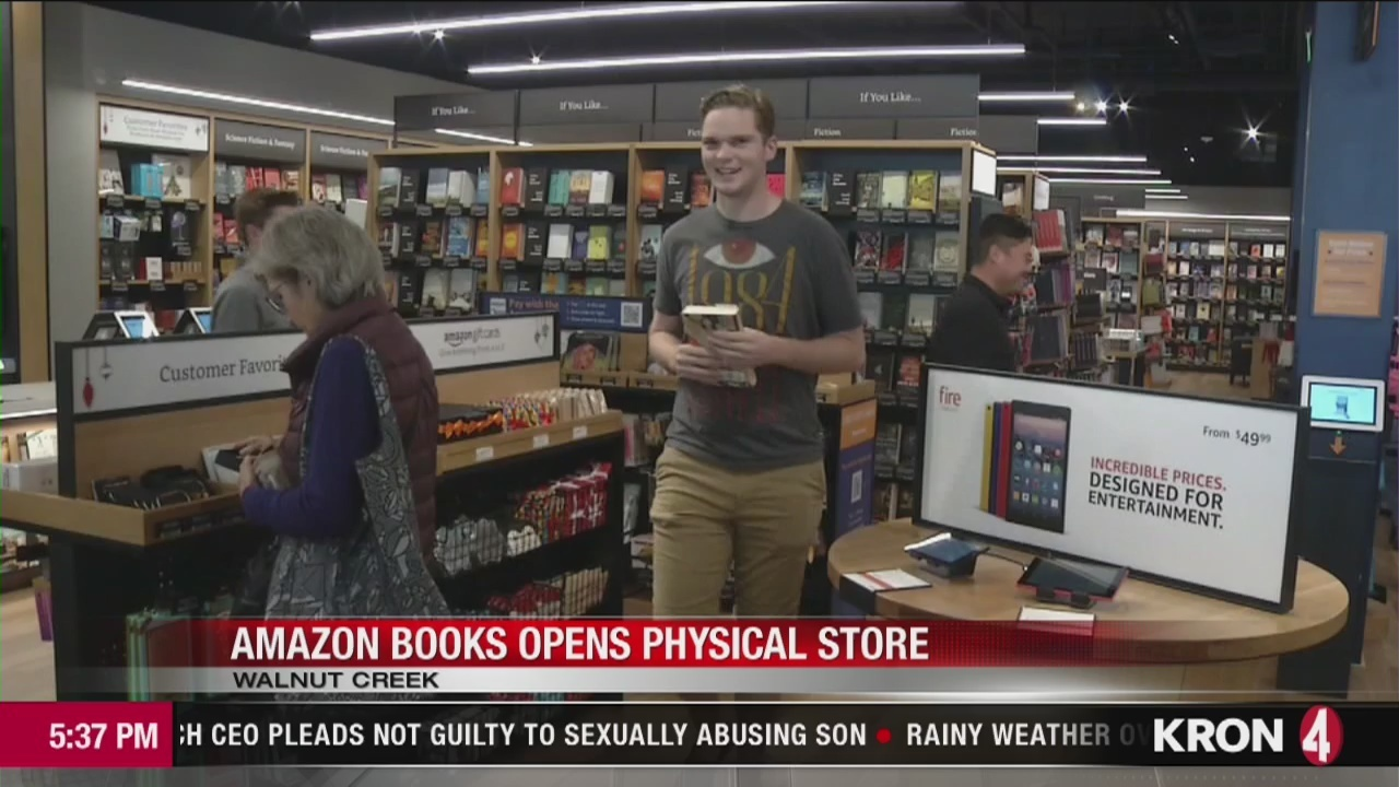 video amazon bookstore opens in walnut creek