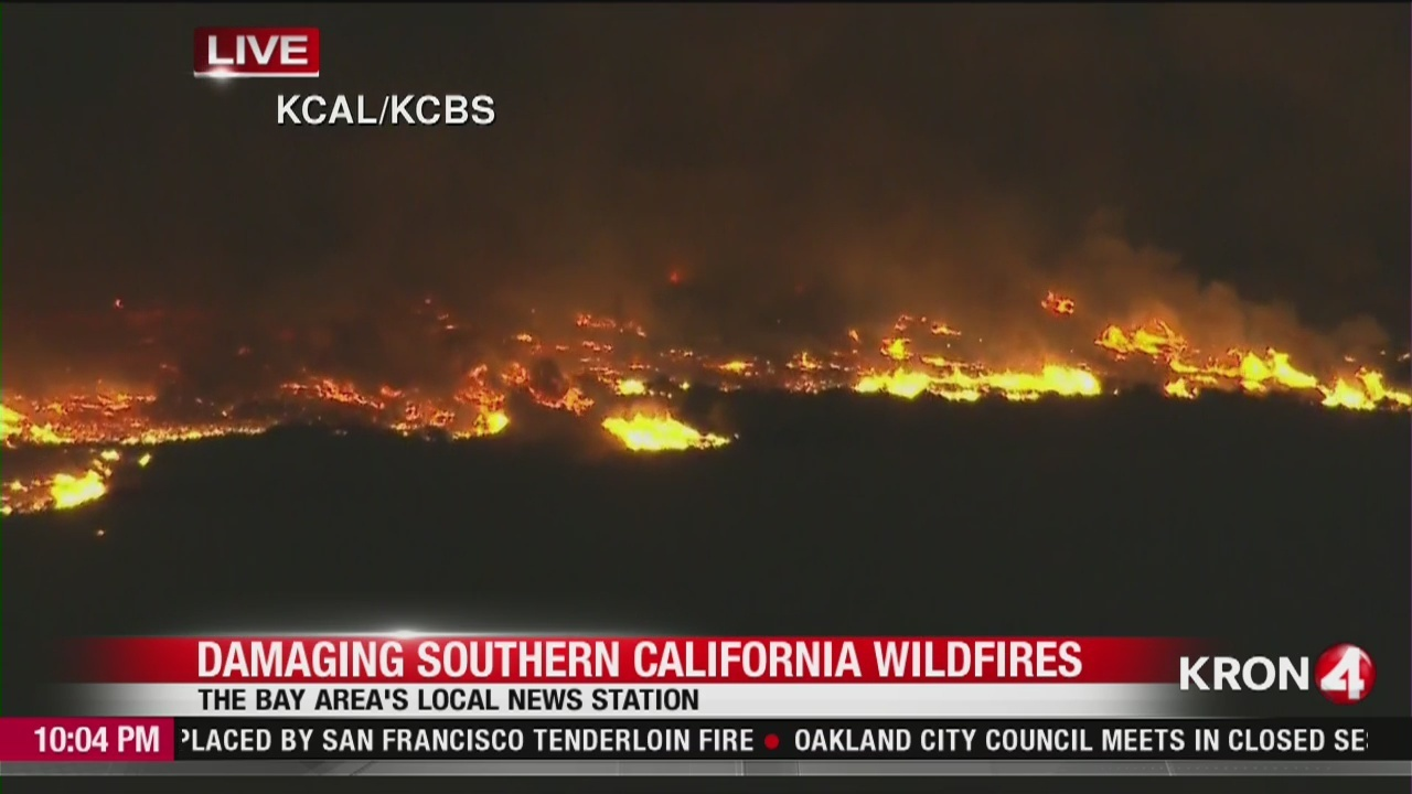 VIDEO: Bel-Air wildfire joins the siege across Southern California