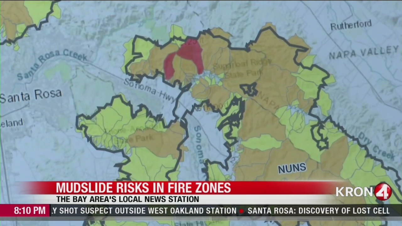 Kron 4 Fire Map.Map Shows North Bay Homes At Risk Of Flash Flooding Mudslides