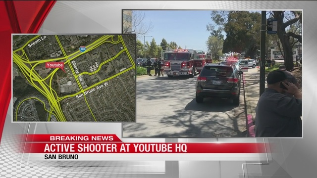 Shooter dead, at least 3 injured in YouTube shooting