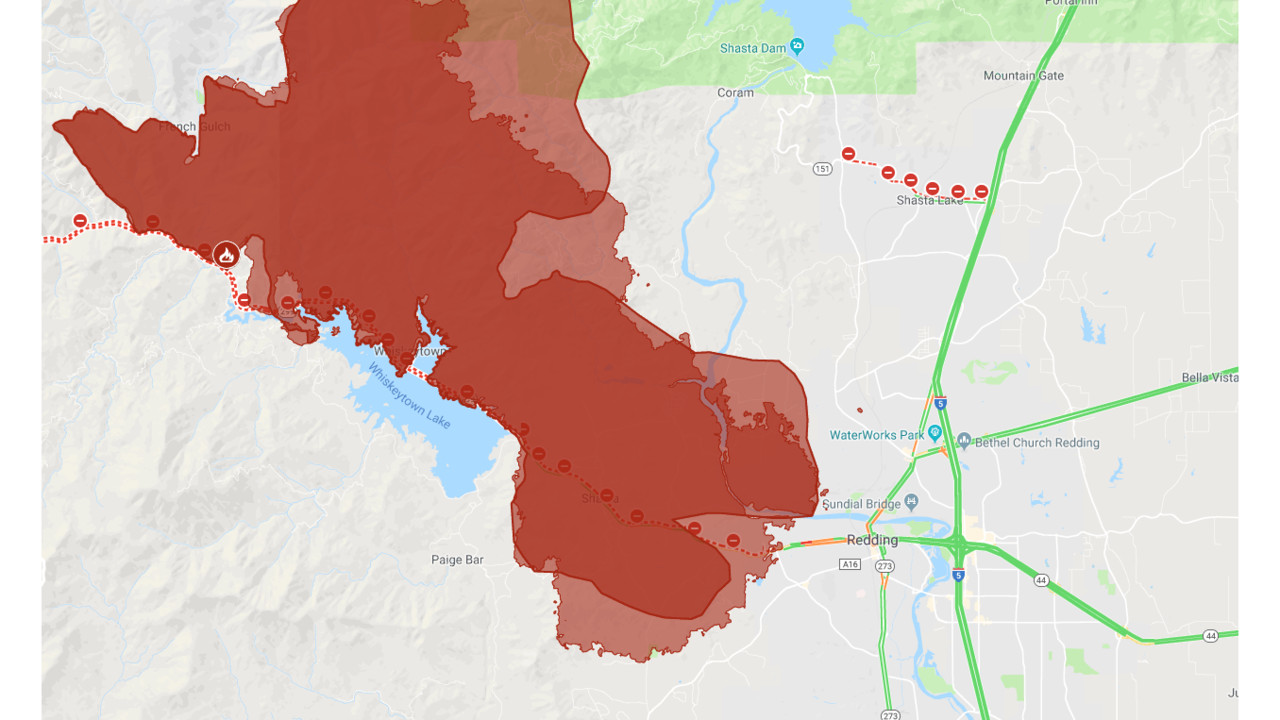 Kron 4 Fire Map.Interactive Map A Look At The Carr Fire Burning In Shasta County
