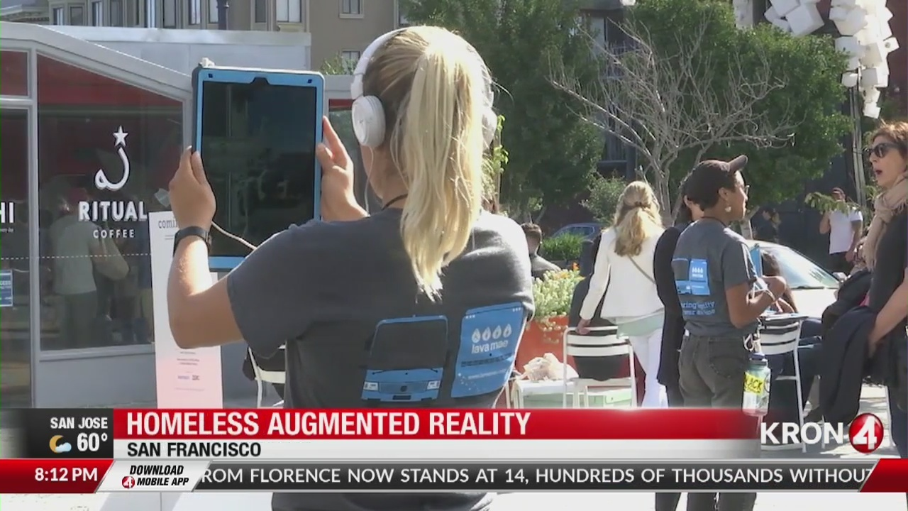 Art installation uses augmented reality to tell stories of the homeless in San Francisco