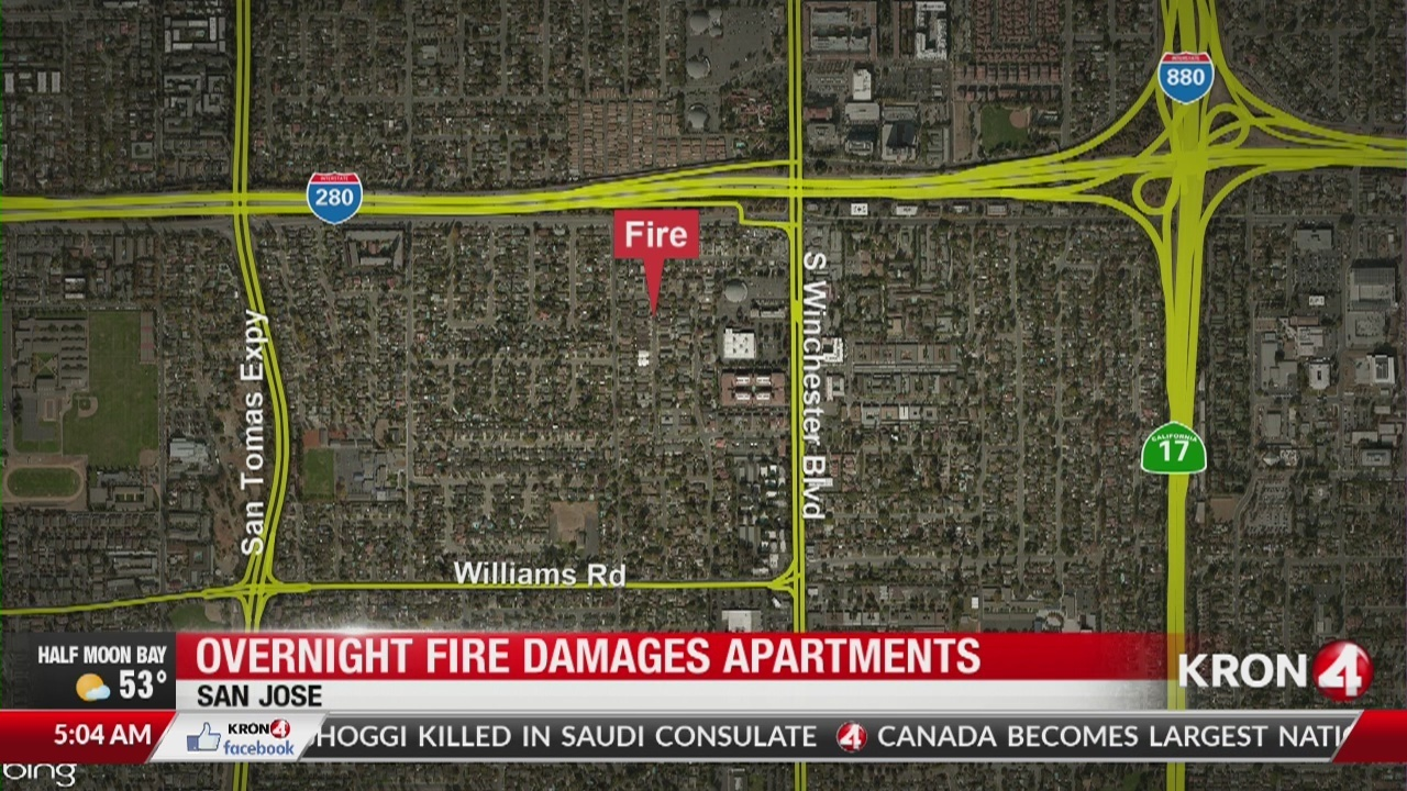 Kron 4 Fire Map.2 Rescued From Fire In San Jose Home