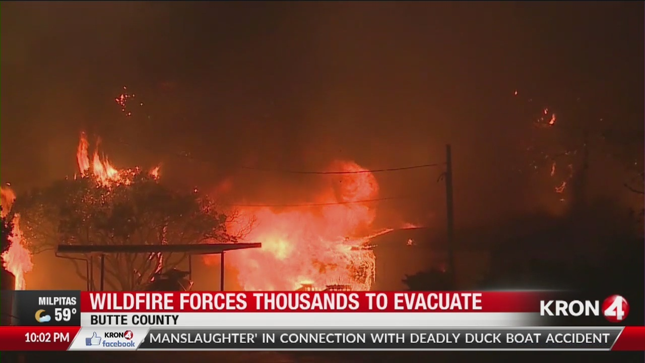 Cal Fire: Entire town of Paradise 'wiped out' by Butte County wildfire