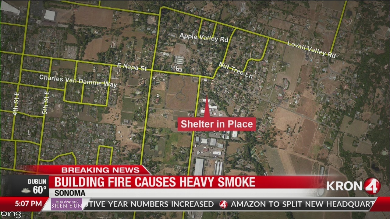 Kron 4 Fire Map.2 Alarm Building Fire Prompts Shelter In Place In Sonoma