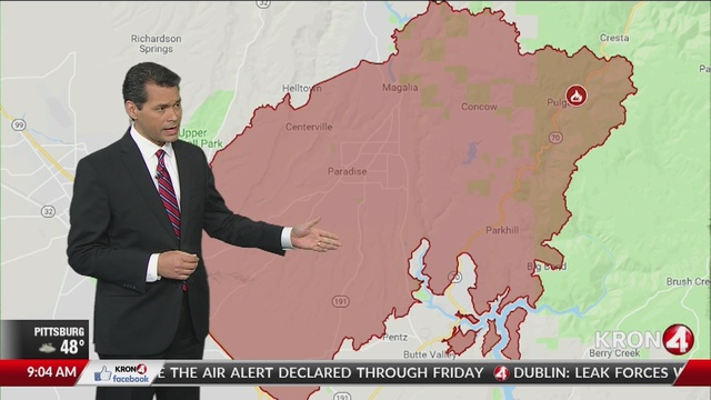 Kron 4 Fire Map.Map Shows Home Damaged In Camp Fire