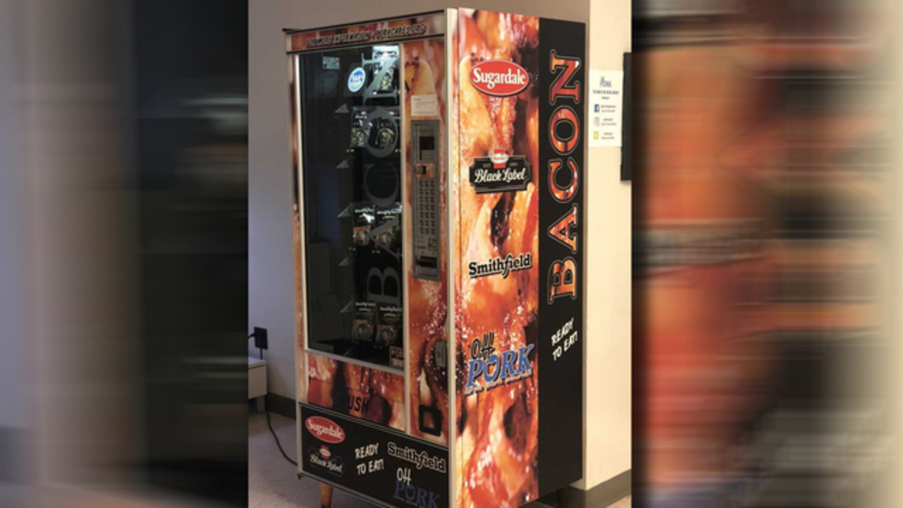 This university now has its own bacon vending machine