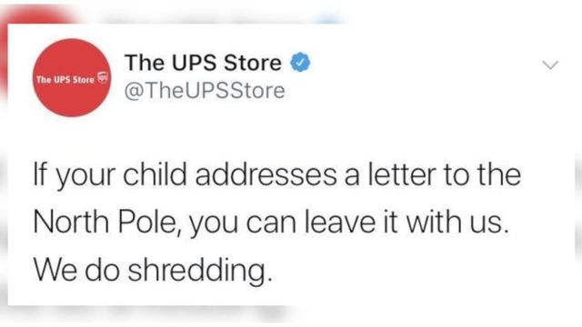 Ups Deletes Tweet About Shredding Kids Letters To Santa