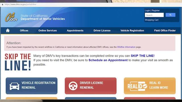 california drivers licence renewal by mail