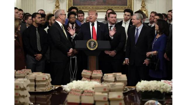 Trump treats North Dakota State football champions to McDonald's, Chick-fil-A
