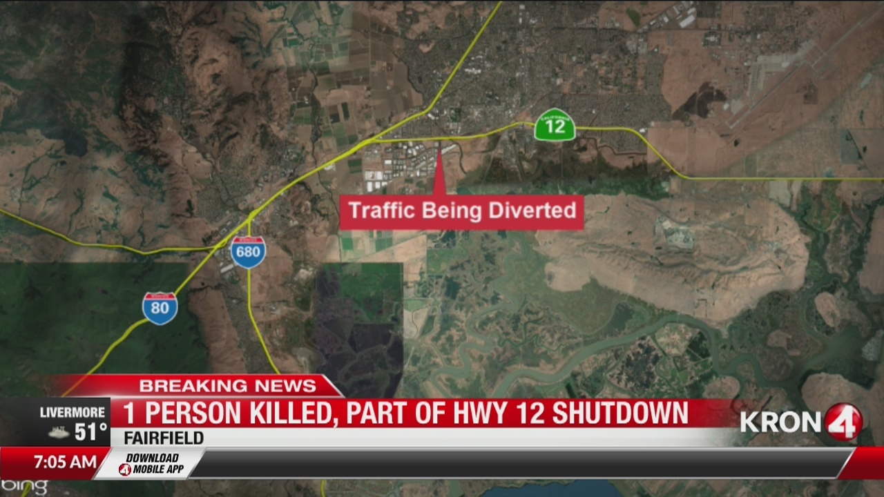 Deadly car accident in Fairfield shuts down HWY 12