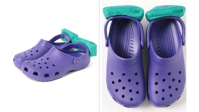 You can now buy Crocs with mini fanny packs attached to them
