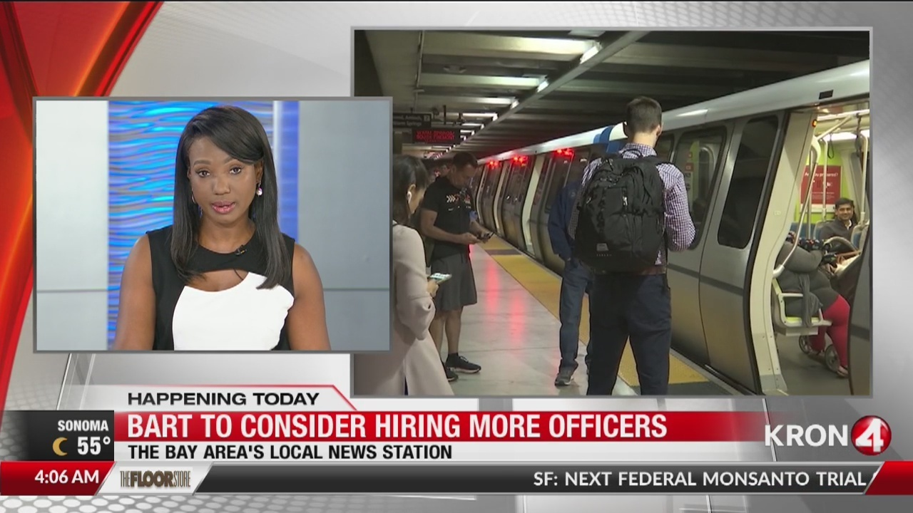 BART may be hiring more police officers