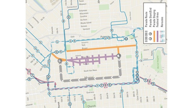 Road closures in place for Carnaval San Francisco