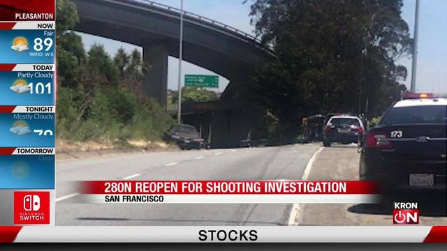 Police investigate shooting on I-280
