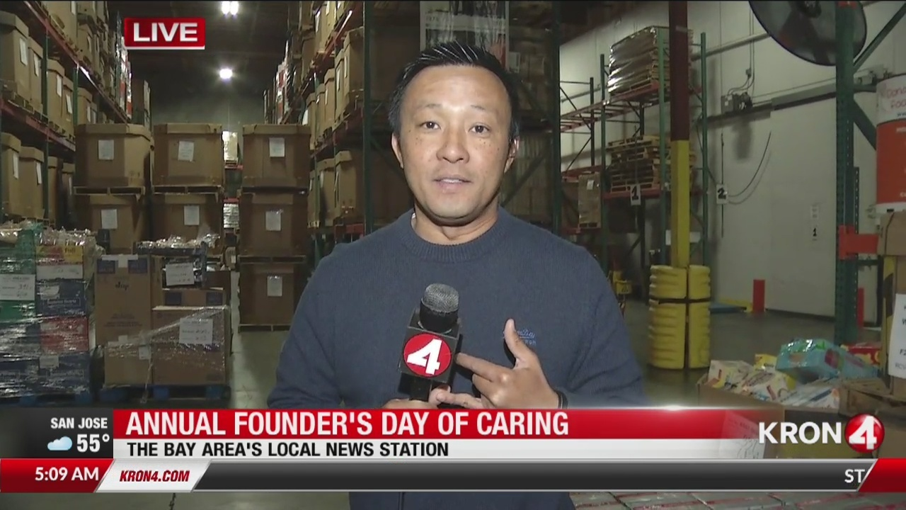 KRON4 gives back at Bay Area food banks for annual Founder's Day of Caring