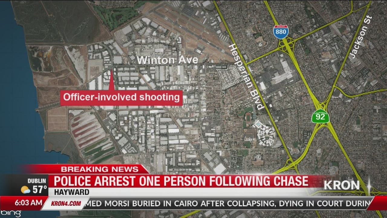 Officer-involved shooting in Hayward leads to chase ending